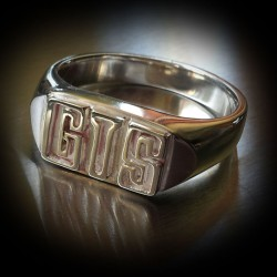 Holden GTS Text Signet Ring