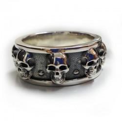 5 Skull Chunky ring