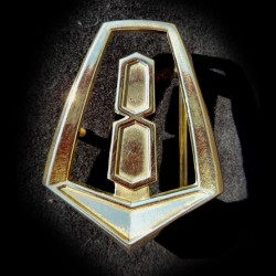 "Chrysler VC ""V8"" Valiant Pillar Badge Belt Buckle"