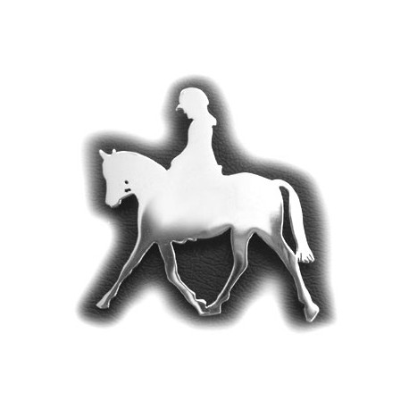 Hand Made - Dressage Horse & Rider Brooch / Stock Pin