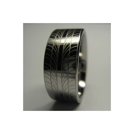 Silver Tungsten Tyre ring