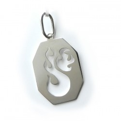 Flamin Dog Tag Pendant (Traditional Dog Tag style design)