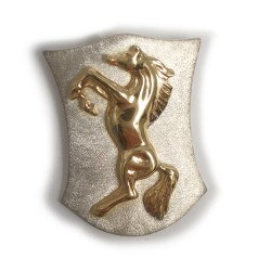 Rearing Horse on Shield Pendant