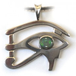 Australian Made - Eye of Ra (Horus) - Ancient Egyptian Amulet (Sterling Silver with Opal)