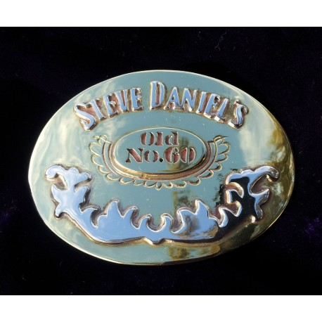 60th Birthday Daniel's Belt Buckle - Custom Handmade 'One of' Design