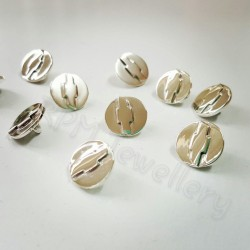 Chevrolet Bowtie Buttons in solid sterling silver