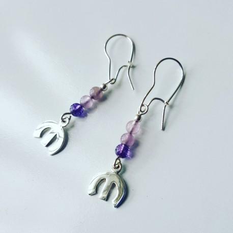 Mopar Pentastar Earrings with gemstones