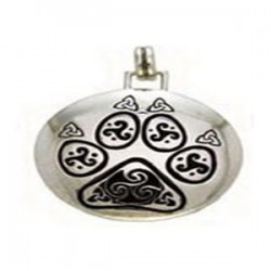 Celtic Paw Print Sterling Silver