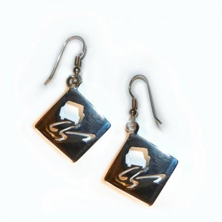 Slippery When Wet Earrrings in solid sterling silver. RPM Jewellery